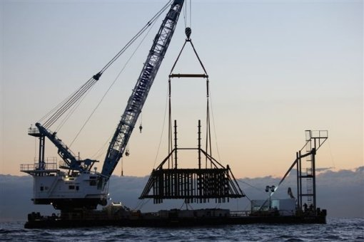 Sydney Offshore Artificial Reef being deployed