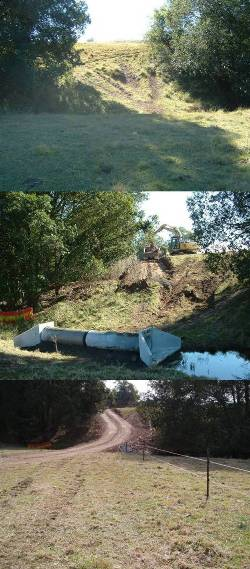 Securing access across a drainage line