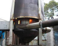 Pilot biochar reactor located at Gosford
