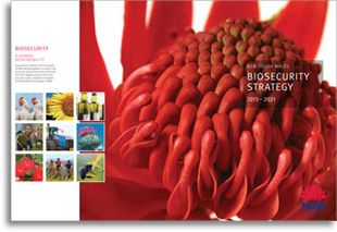 Cover of the NSW biosecurity strategy