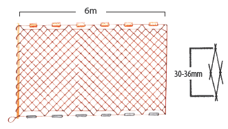 Hand-hauled yabby net diagram