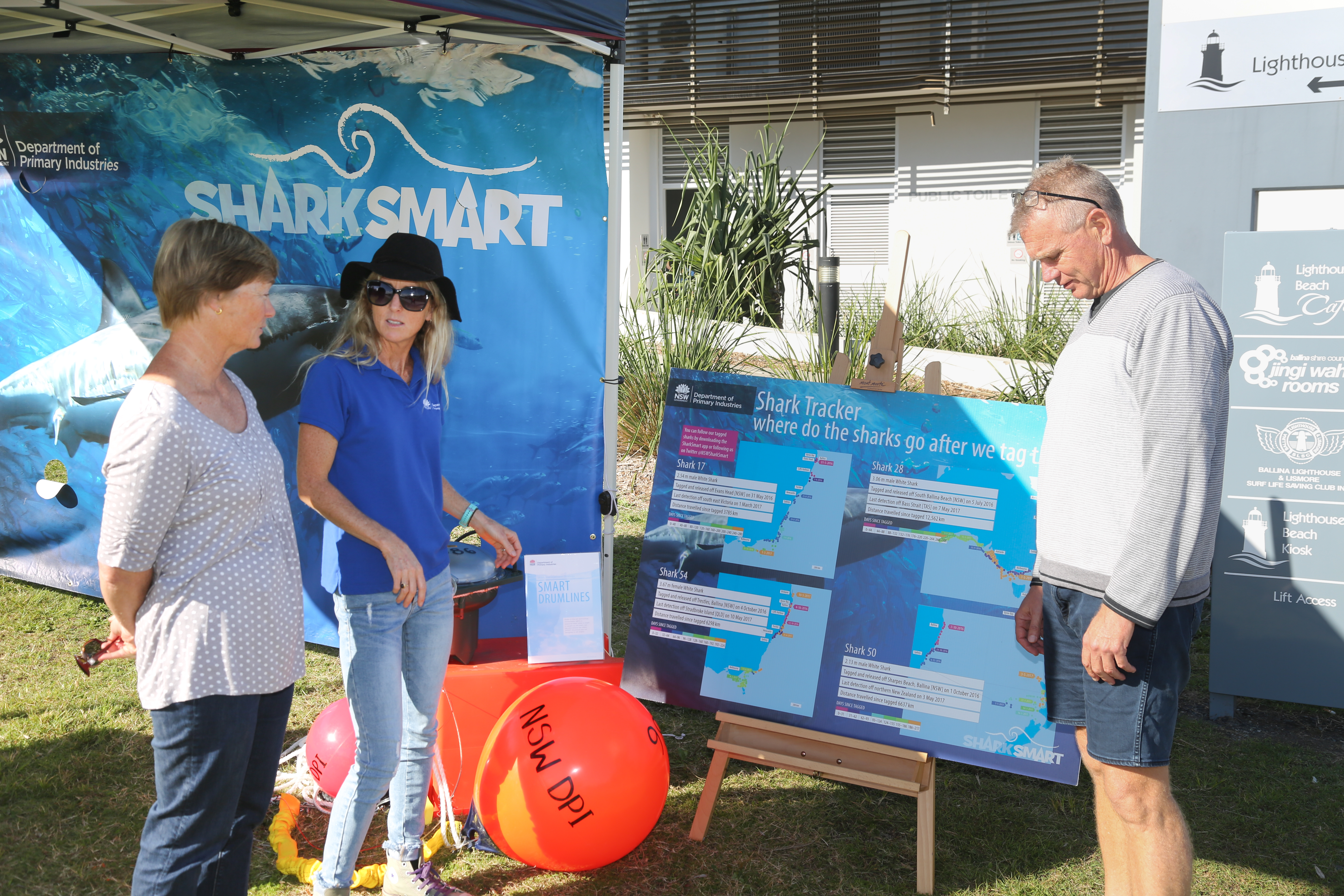 Forster-Tuncurry community at DPI's SMART drumline stand