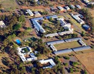 Aerial shot of Yanco Agricultural Institute