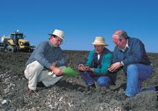 Inspecting the soil at Narrabri