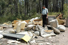 Rotting rubbish litters Nambucca State Forest