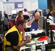 Control centre in operation
