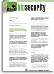 Cover of the biosecurity newsletter