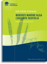 Cover of caulerpa taxifolia control plan
