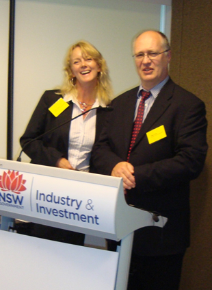 Dr Jenny Ekman, I&I NSW Horticulture Research Leader and Dr Philip Wright, I&I NSW Director Science Strategy and Planning.