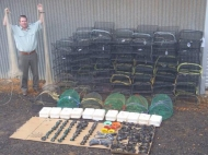 Seized fishing gear from western NSW