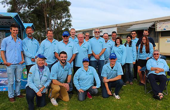 new Fishcare volunteers at training