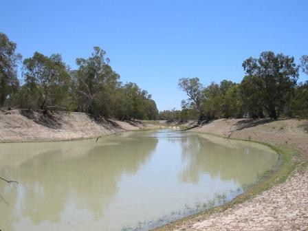The Darling River north of Pooncarie