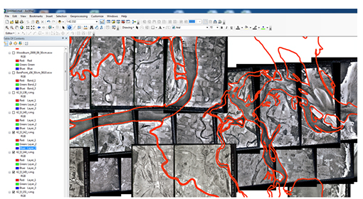 Screen shot of ArcMap