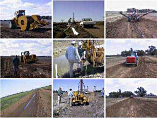 Seepage project collage of photos