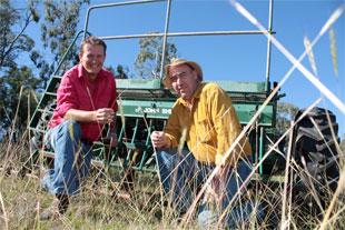 Warwick Badgery and Geoff Millar