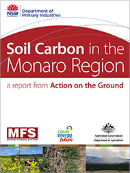 Cover image of soil carbon in the monaro region