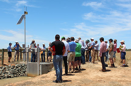 Irrigators and consultants looking at irrigation automation at farm