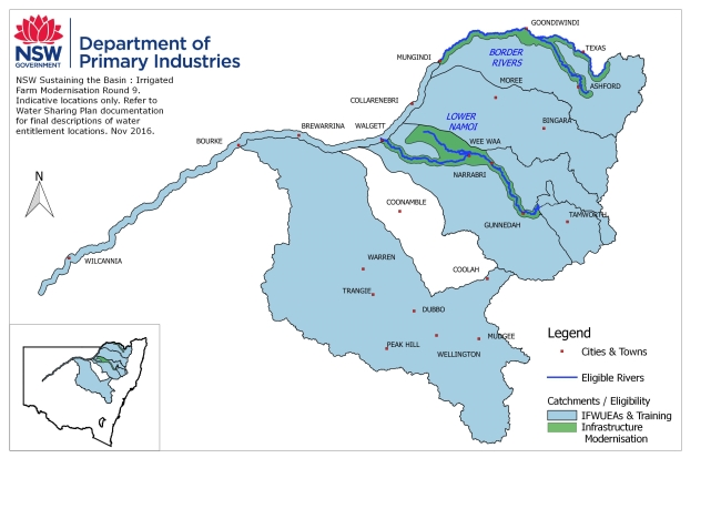 STBIFM R9 Catchments Map