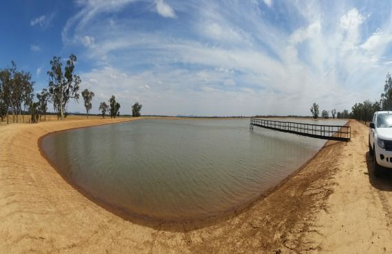 Irrigation storage funded by STBIFM.