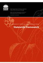 Biodiversity priorities for wide spread weeds - Statewide framework