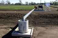 Irrigation system bore pump outlet at Narrabri