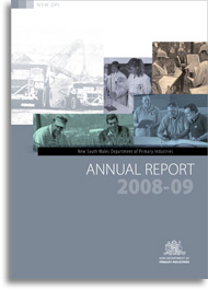 NSW DPI annual report 2008-09 cover