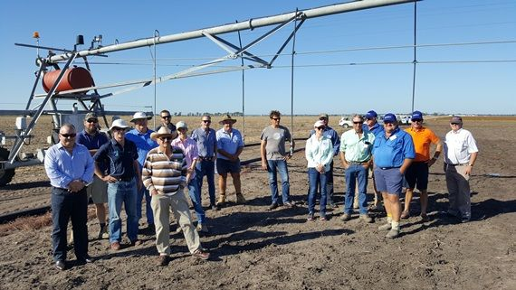 Participants at the IAL Centre Pivot Lateral Move  course, CSIRO Plant Breeding Institute, Narrabri 2017