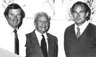 L-R: Directors Ted Wolfe (April 1981 – 1982), Albert Pugsley (July 1953 – March 1975), Allan Smith (March 1975 – March 1981).