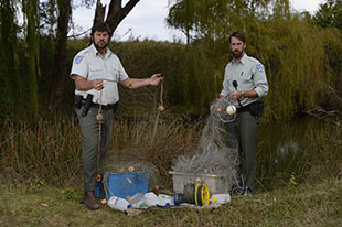 Illegal nets and fishing gear seized from north western NSW