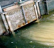 Figure 2. A sluice gate with a worm drive mechanism (Photo: Michael Wood)