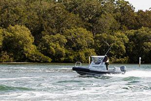 Fisheries patrol vessel in estuarine waters