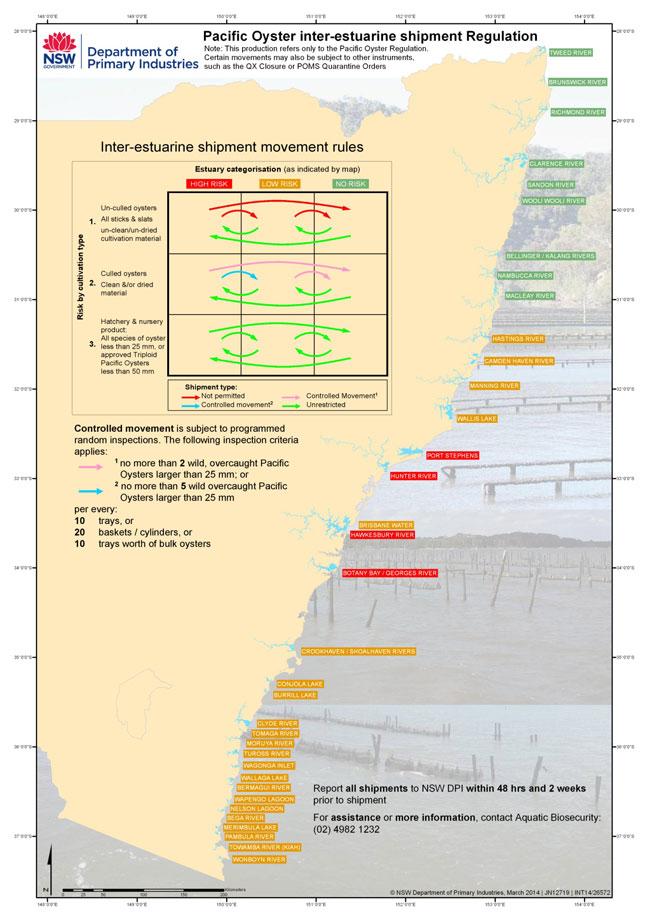 Pacific Oyster inter-estuarine shipment regulation