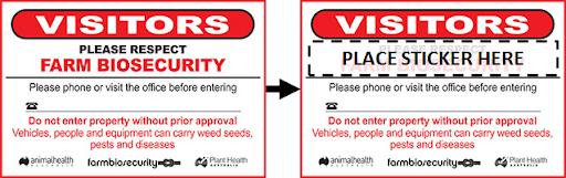 Farm Biosecurity farm trespass signs