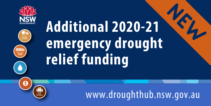 additional 2020-21 emergengy drought relieft funding