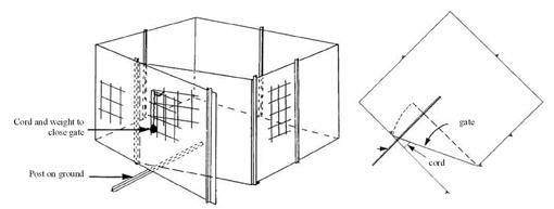 enclosed feral pig trap