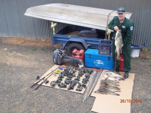 Illegal fishing gear and fish seized from western NSW