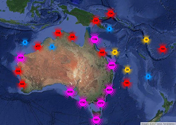 Tagged fish locations 2014-217