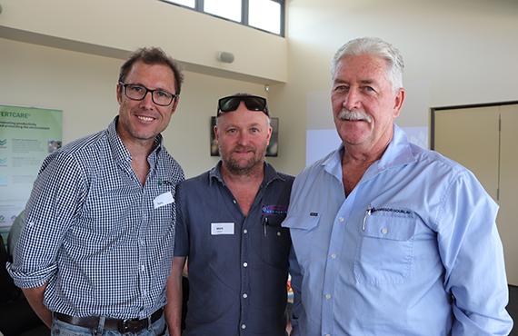 Tony Bennett, Mark Duncan and Phil McCarthy at a Fertliser Stewardship Group workshop held in Ballina November 2019
