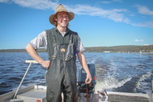 Jack Salt, oyster farmer from Pambula