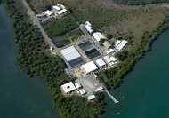 Port Stephens Fisheries Centre from the air