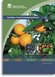 Cover image of the horticulture prospectus