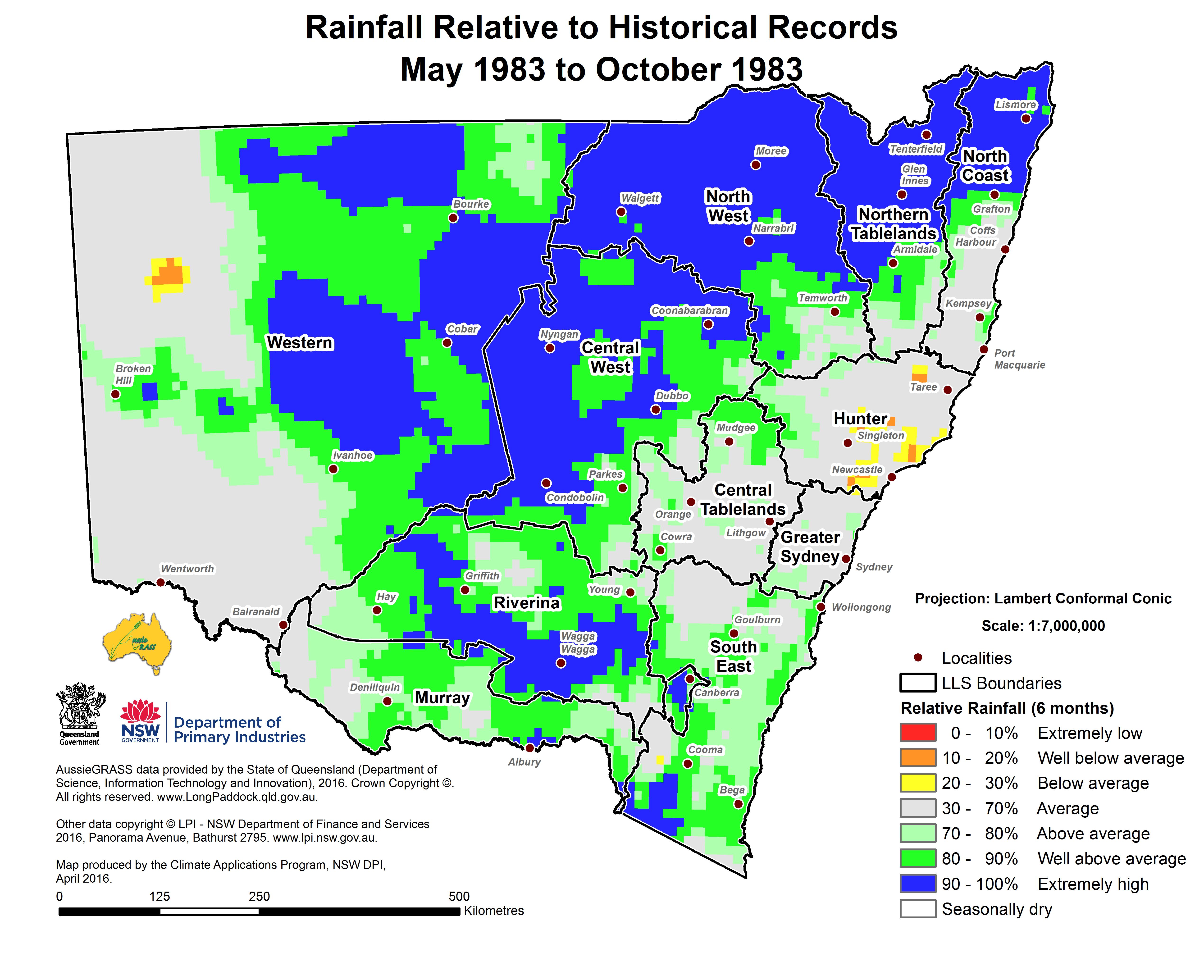 NSW Seasonal Conditions Summary May 2016