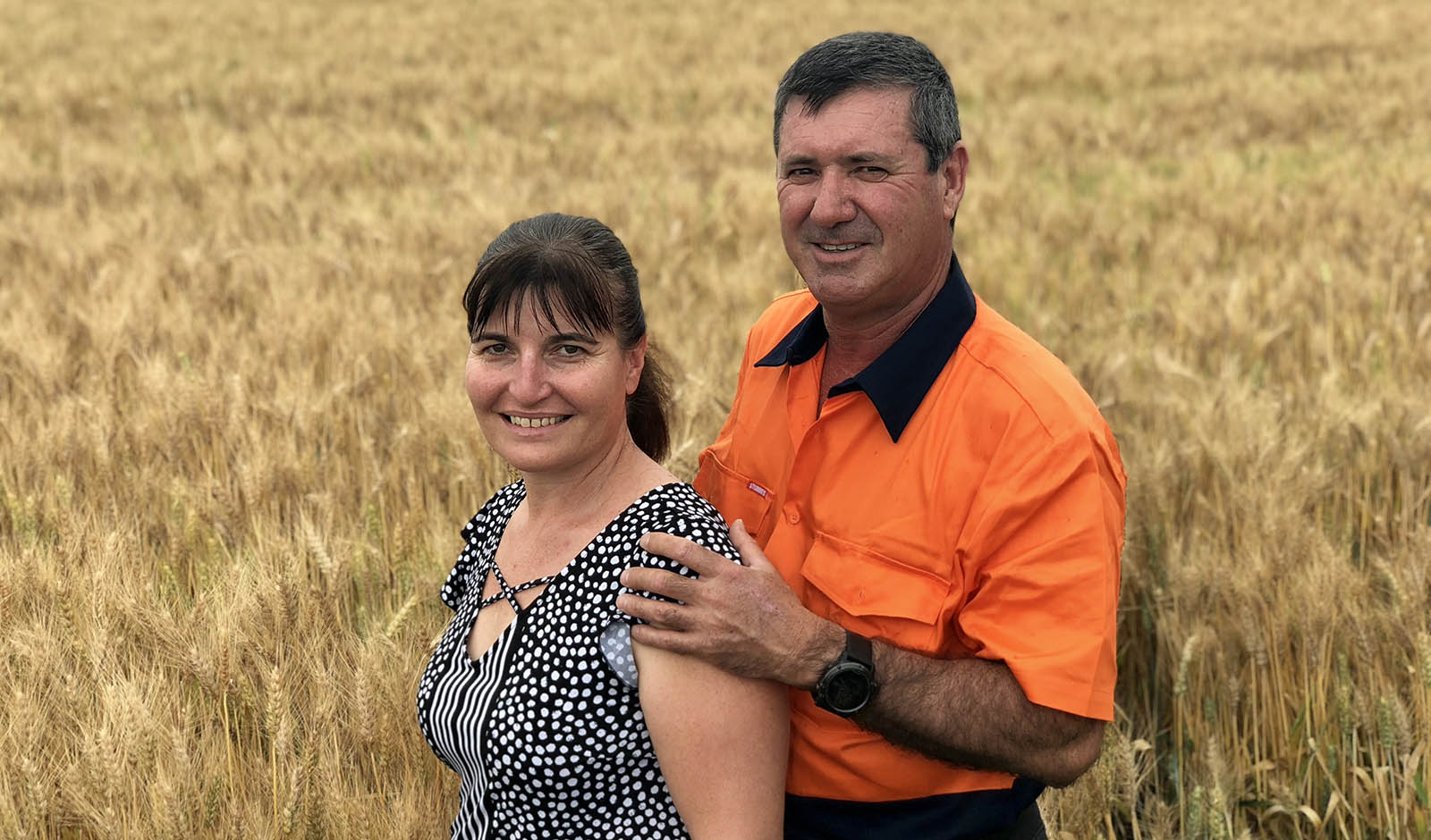 The 2018 Farmer of the Year winners Glen and  Julie Andreazza from Willbriggie