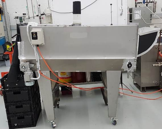 Figure 2. Specialist in-line UV-C light treatment cabinet for the postharvest treatment of UV-C light to lime fruit at the University of Newcastle.