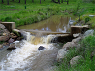 Stream gauging station in Canobolas State forest, Central West NSW
