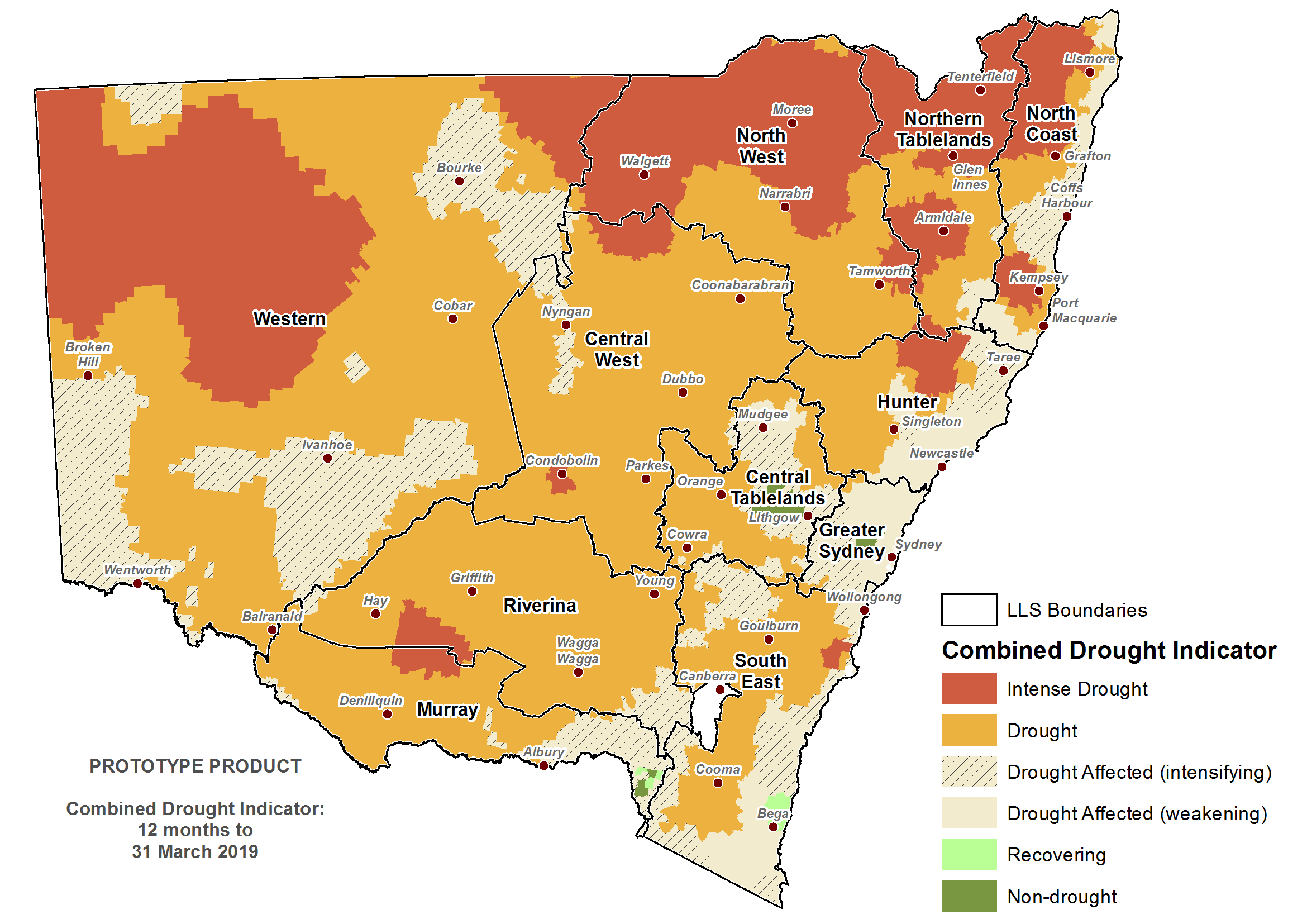Verified NSW Combined Drought Indicator to 31 March 2019 - For an accessible explanation of this image contact scott.wallace@dpi.nsw.gov.au