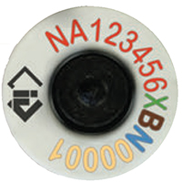 An NLIS tag showing the different sections of the identification number