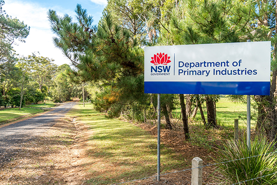 Entry sign to Ourimbah research centre