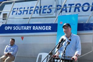 Minister Adam Marshall launching the Solitary Ranger in Coffs Harbour