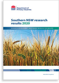Southern NSW Results 2020 cover